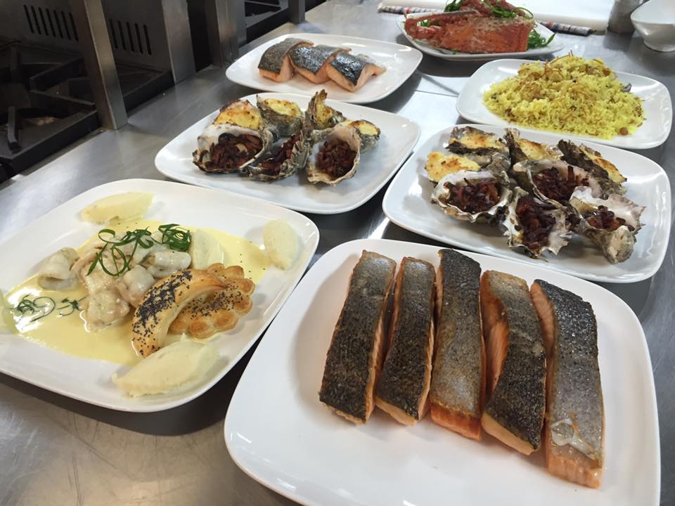 Prepare seafood dishes